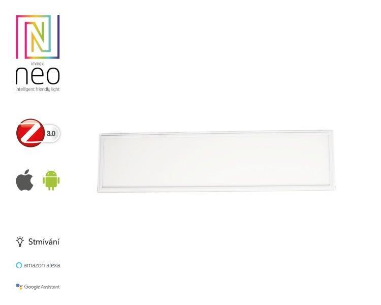 Immax 07014KD NEO TABLON Smart LED panel 300x1200mm 38W Zigbee stmívatelná stříbrná