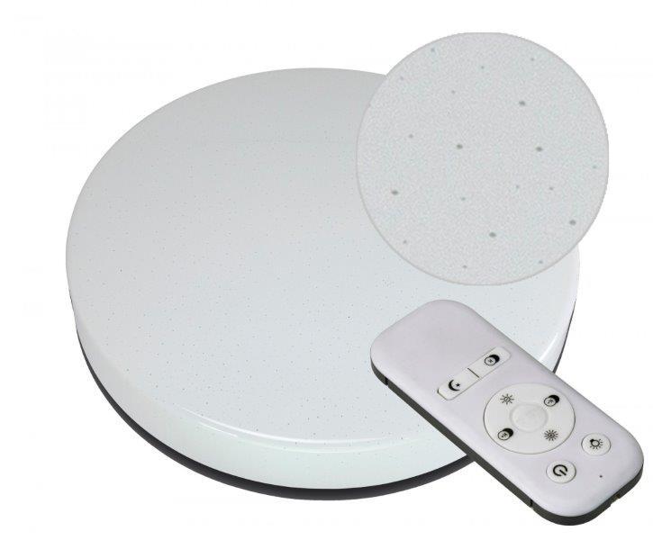 Immax 08227L LED stropní svítidlo CCT STARS 60x10,5cm, stmívatelné s dálkovým ovladačem