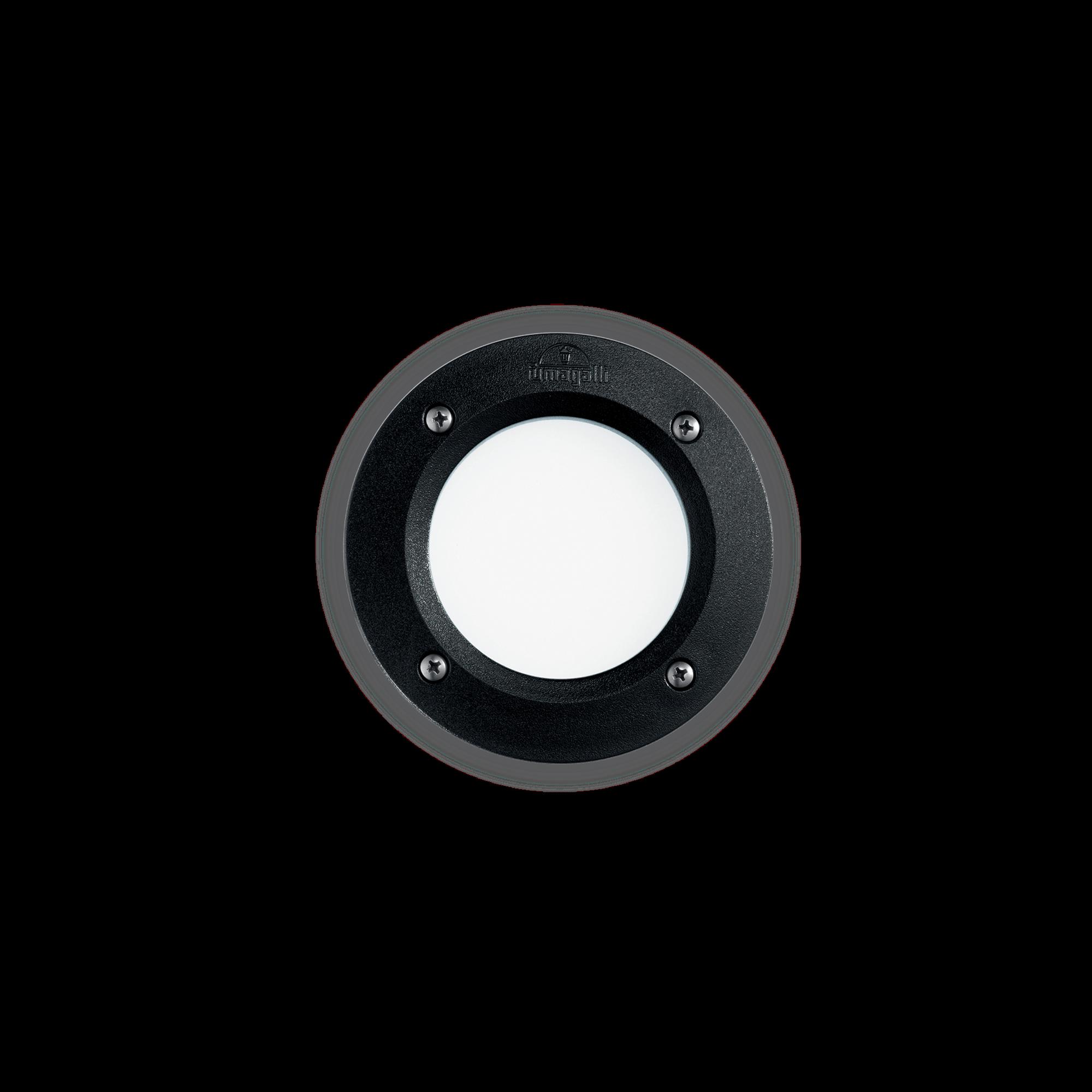 Exteriérové zápustné svítidlo Ideal lux 096551 LETI PT1 ROUND NERO 1xGX53 23W 4000K IP66