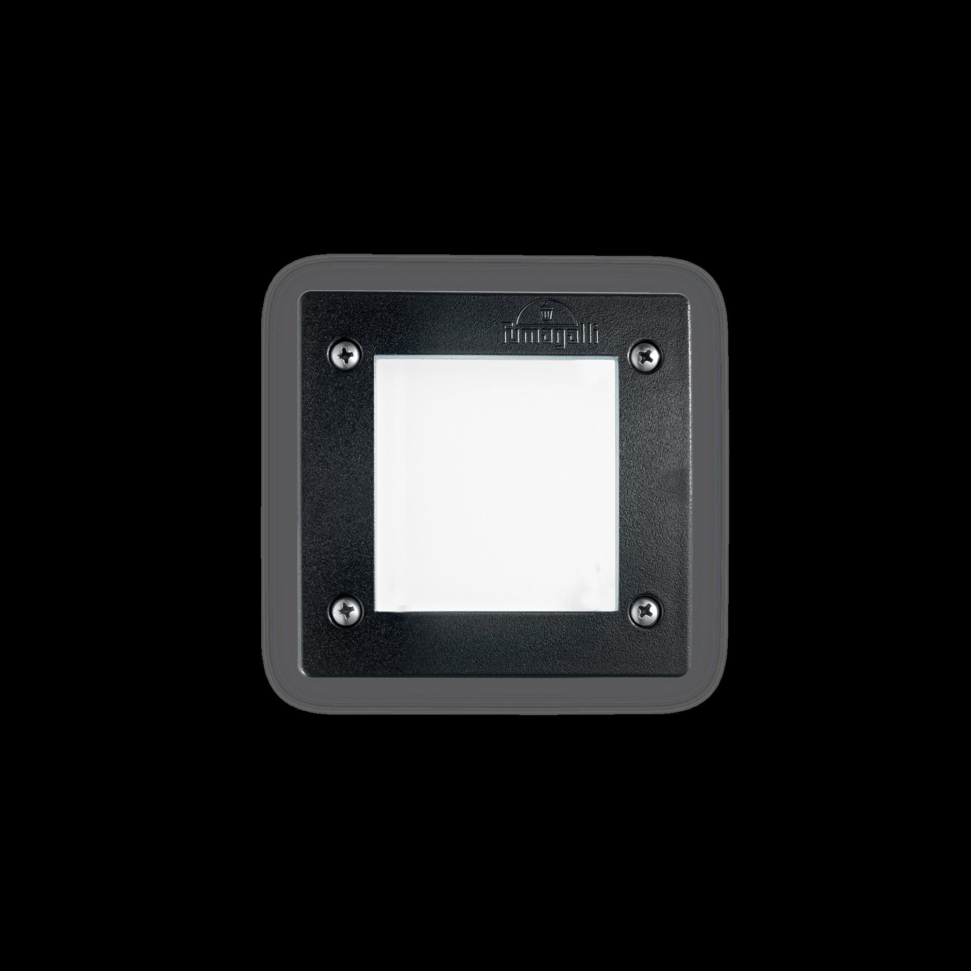 Exteriérové zápustné svítidlo Ideal lux 096582 LETI PT1 SQUARE NERO 1xGX53 23W 4000K IP66