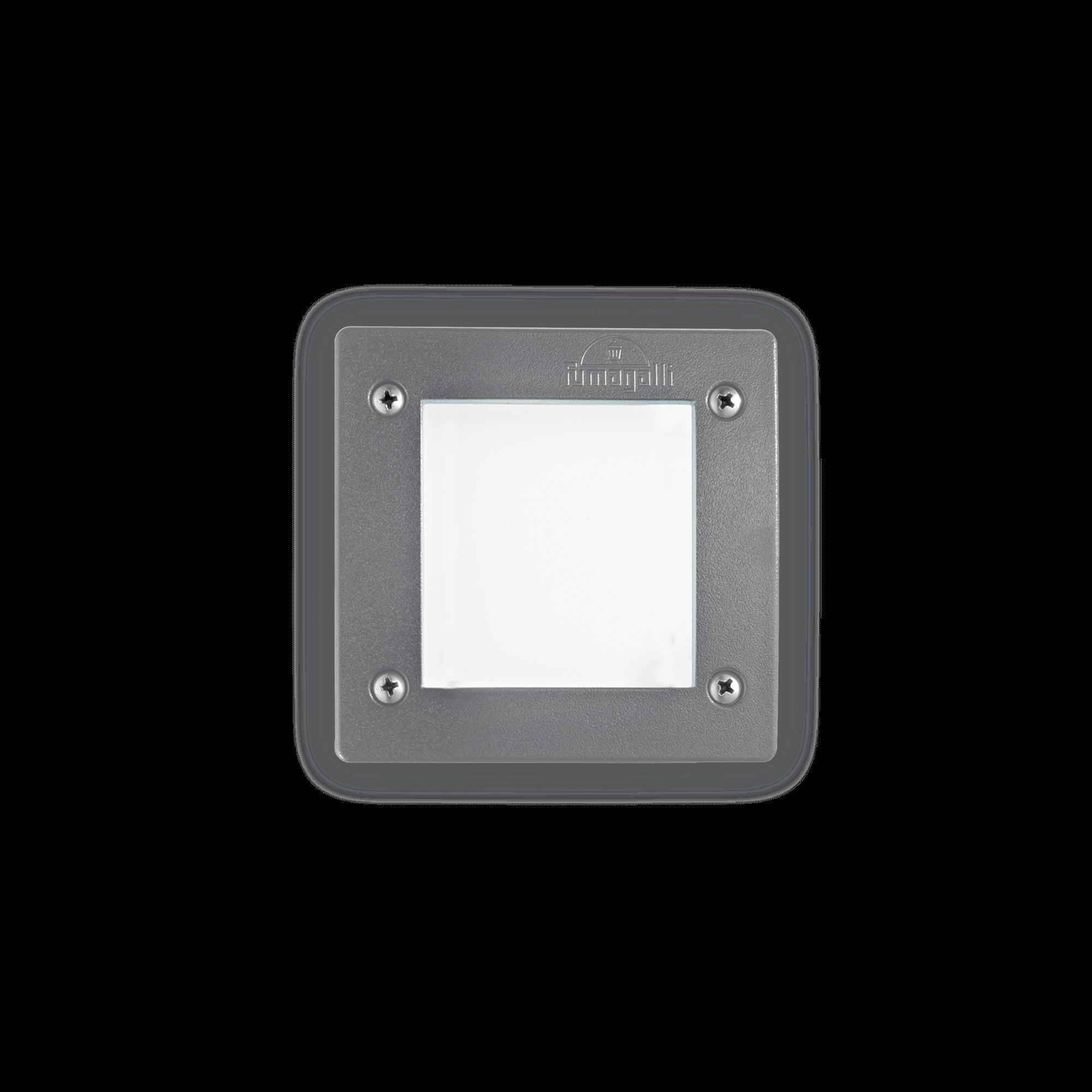 Exteriérové zápustné svítidlo Ideal lux 096599 LETI PT1 SQUARE GRIGIO 1xGX53 23W 4000K IP66