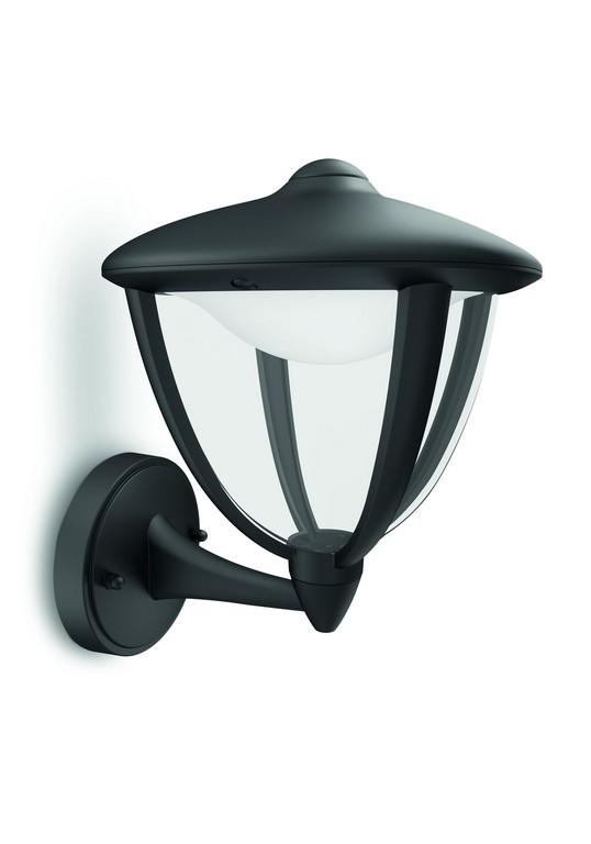 Philips 15470/30/16 myGarden Robin nástěnné svítidlo black 1x4.5W 230V
