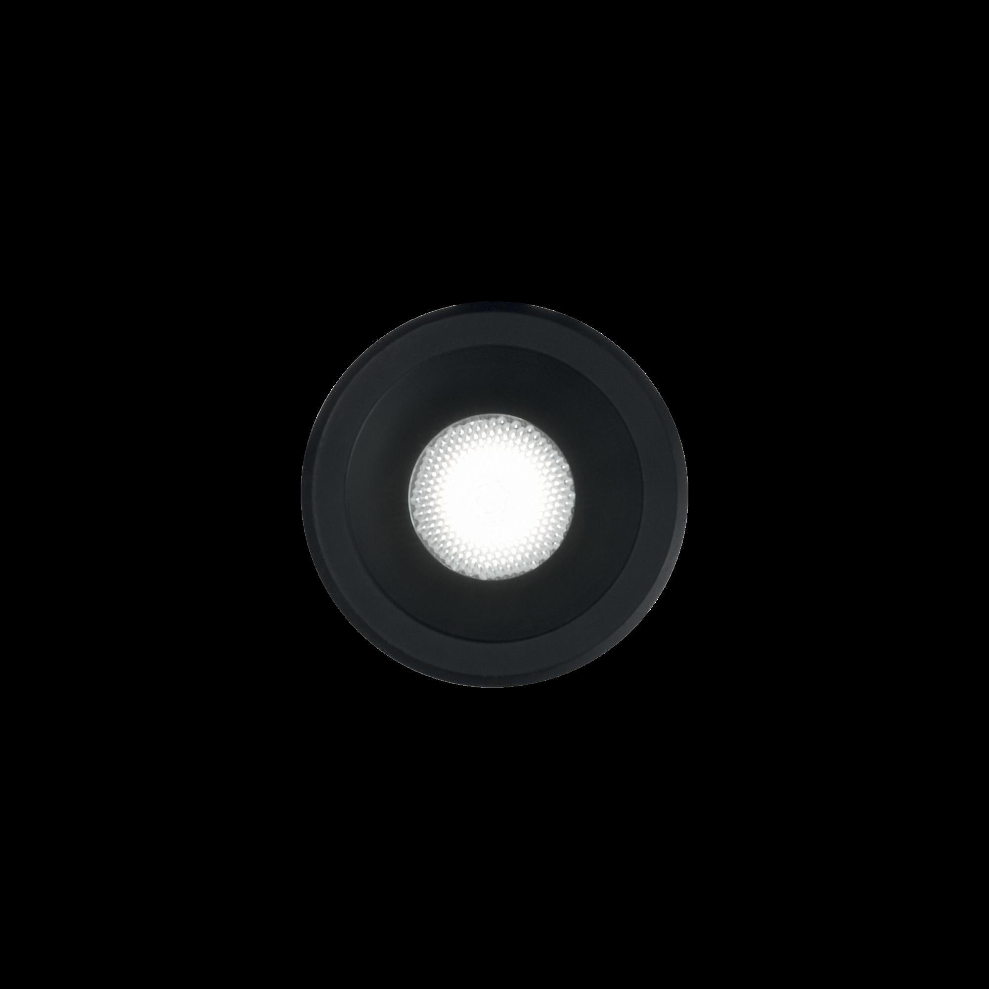 IdealLux 244846 VIRUS venkovní zápustné svítidlo 3W 210lm 3000K IP20 černá