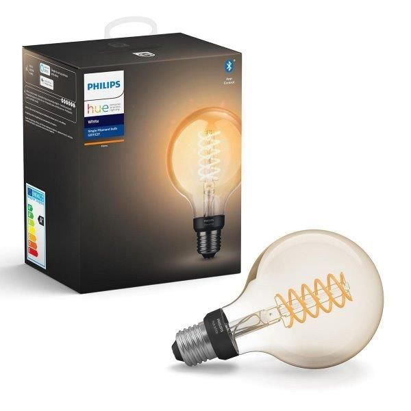 Philips Hue White Filament žárovka E27 7W/550lm G93 Globe 2100K BlueTooth