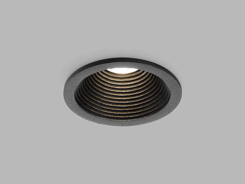 LED2 2111033 SPLASH, kulaté zápustné bodové svítidlo 82mm 7W / 525lm 3000K IP54 černá