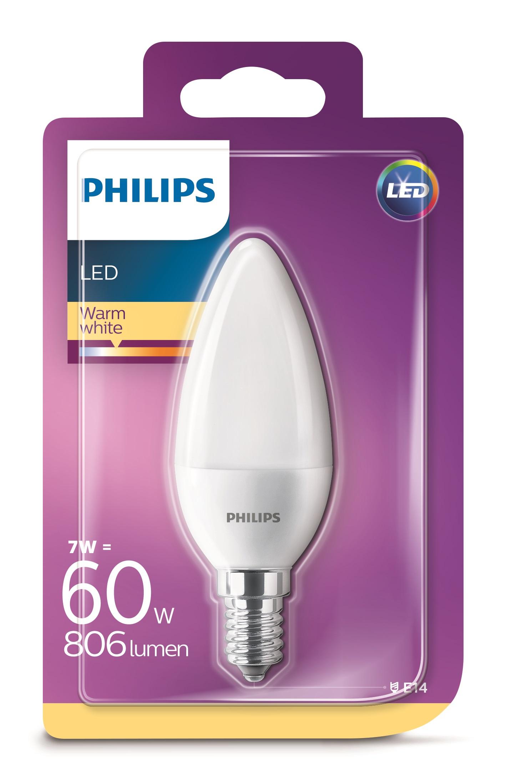 Philips LED 7W/60W E14 WW B35 FR ND svíčka