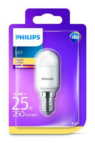 Philips LED 3,2W/25W E14 WW T25 ND do chladničky a digestora teplé světlo (2700K)