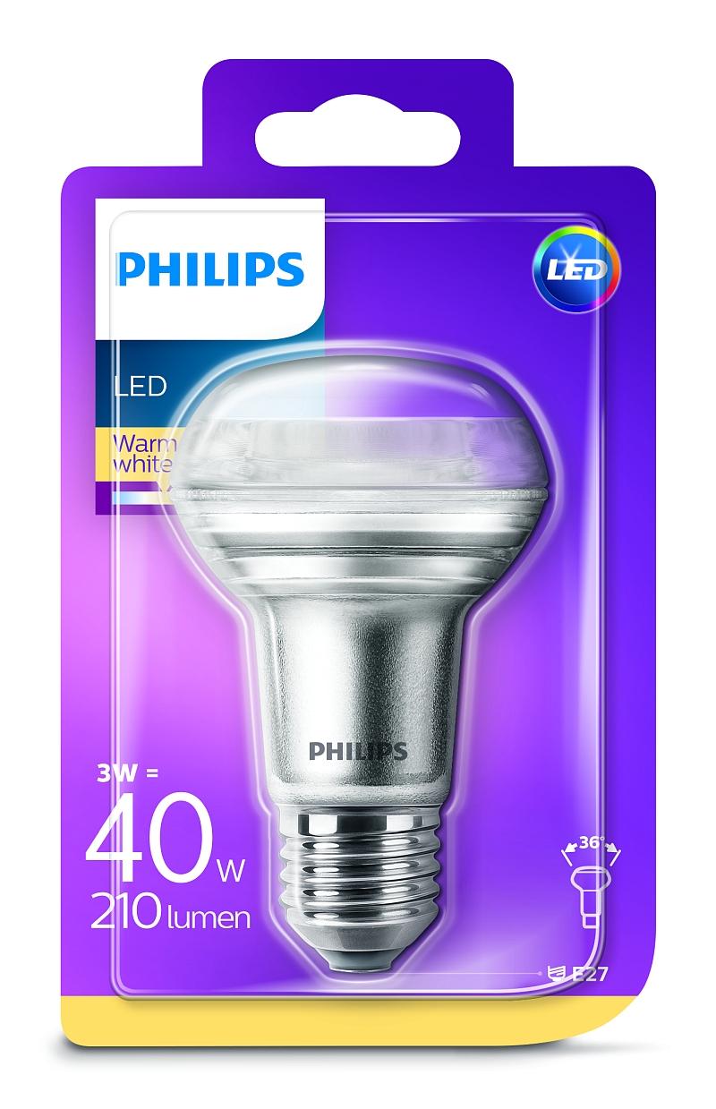 Philips LED žárovka 81157300 230 V, E27, 3 W = 40 W, teplá bílá, A+ A++ E , reflektor