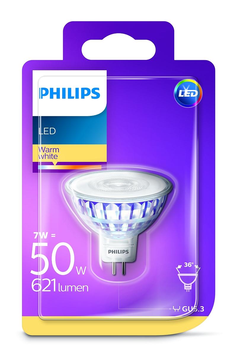 Philips LED žárovka 81395900 12 V, GU5.3, 7 W = 50 W, teplá bílá, A+ A++ E , reflektor