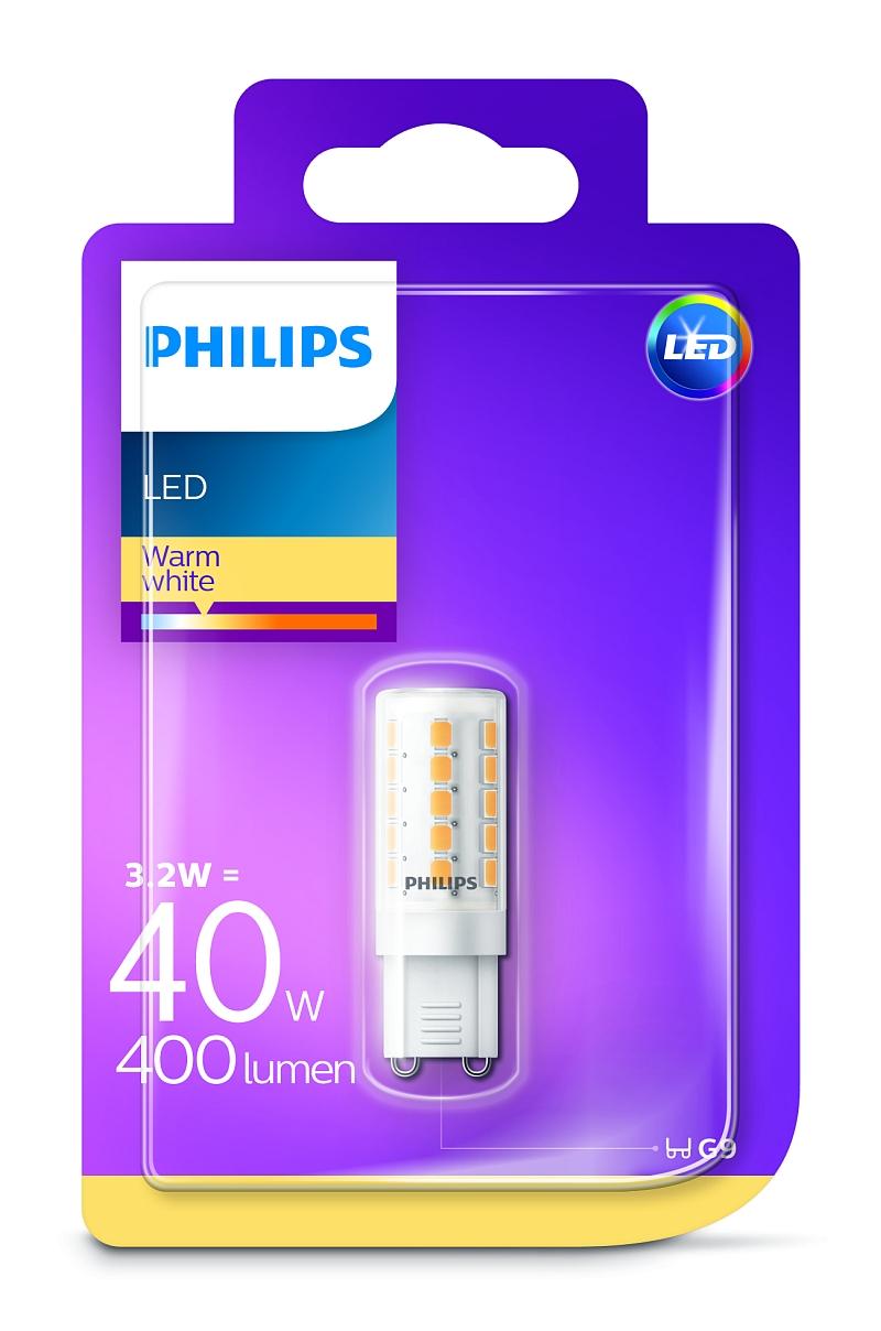 Philips LED 3W/40W G9 WW ND kapsula teplé světlo (2700K)
