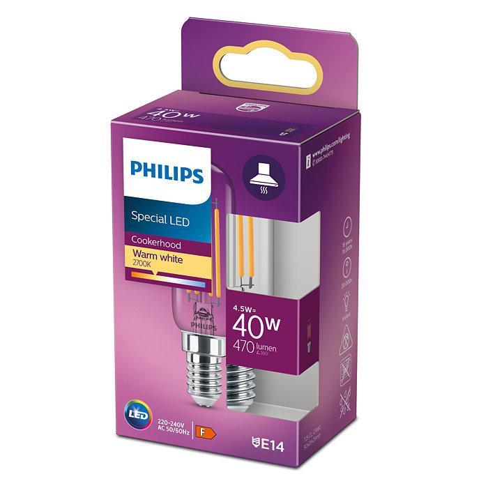 Philips 8718699783358 LED classic žárovka 4,5W/40W 470lm T25L 2700K E14 do ledničky a digestorě
