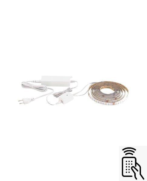 Eglo 98296 LED-STRIPE-A LED pás 17W / 1800lm 2765K bílá / + dálkový ovladač