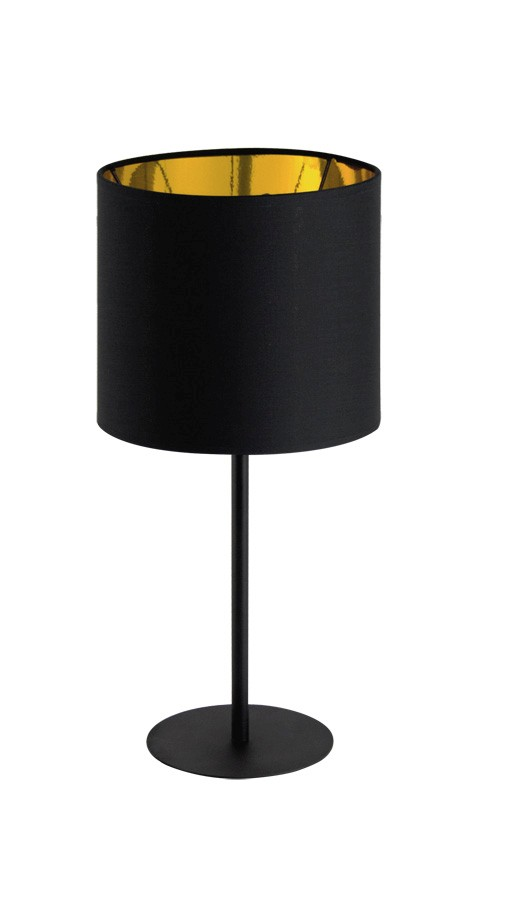 Palnas 63002507 ZITA 200 stolní lampička 1xE27 23W černá-zlatá