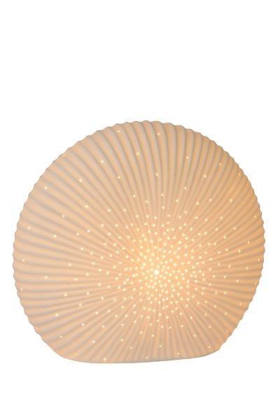 Lucide 13527/26/31 SHELLY stolní lampa E14 / 25W H26.5cm porcelánová bílá