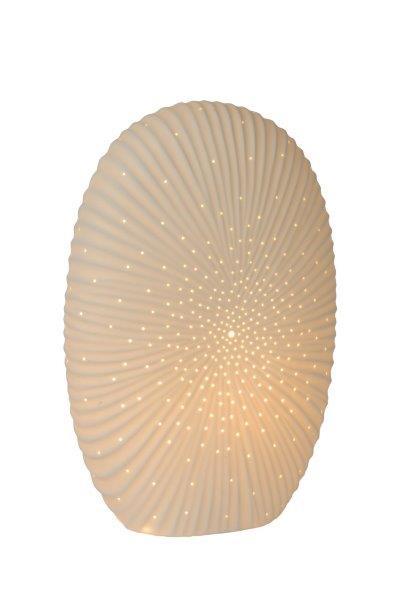 Lucide 13527/33/31 SHELLY stolní lampa E14 / 25W H32.6cm porcelánová bílá