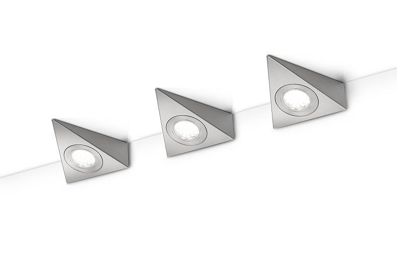 TRIO 273370307 Ecco svítidlo pod kuchyňskou linku LED 3x3W 200lm 3000K