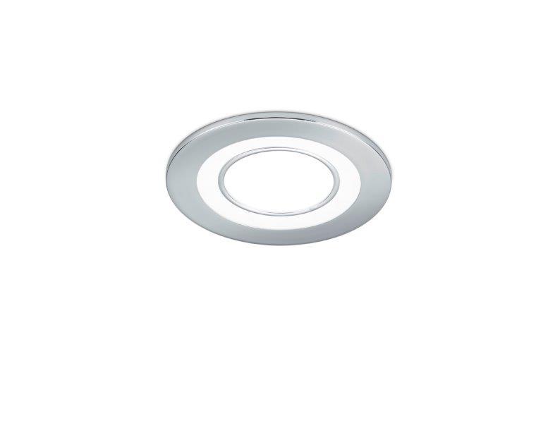 TRIO 652510106 Core Zápustné svítidlo 82mm LED 1X5W / 450lm 3000K Chromová