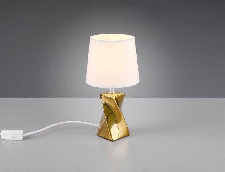 TRIO reality R50771579 ABEBA Stolní lampa 150mm E14 1x40W Zlatá