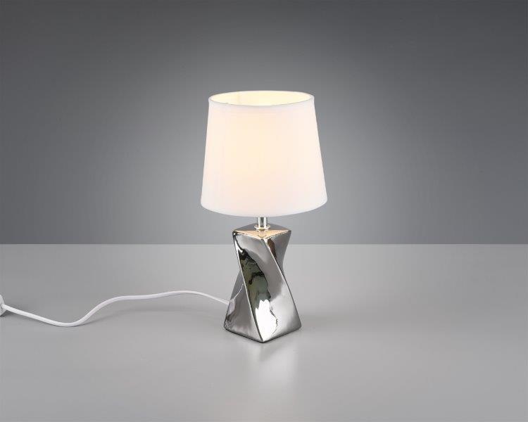 TRIO reality R50771589 ABEBA Stolní lampa 150mm E14 1x40W Stříbrná