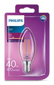 Philips LED Classic 4W/40W E14 WW B35 CL ND mini candle teplé světlo (2700K)
