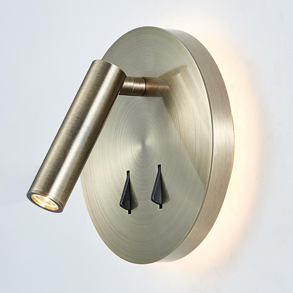 SP.7349-02B-ANT-B ITALUX Nelly moderní lampička 9W LED bílé světlo (3200K) IP20