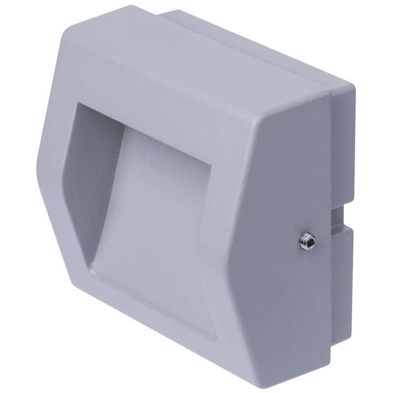 ZC0103 EMOS LED orientačné svietidlo, prisad. obdĺžnik. 4W teplá biela IP54 sivá