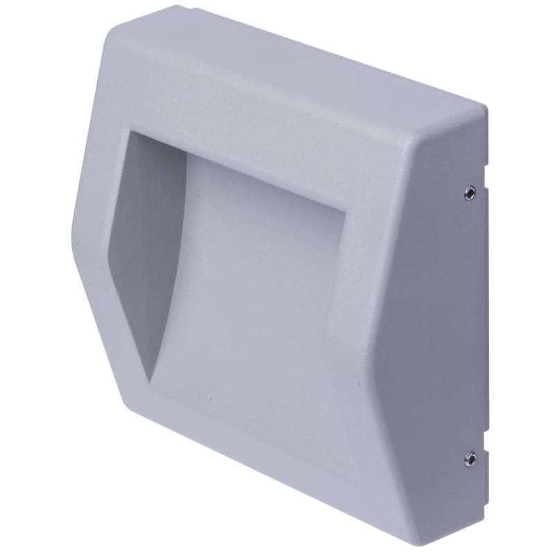 ZC0104 EMOS LED orientační svítidlo, přísad. čtverec 6W teplá bílá IP54 šedá
