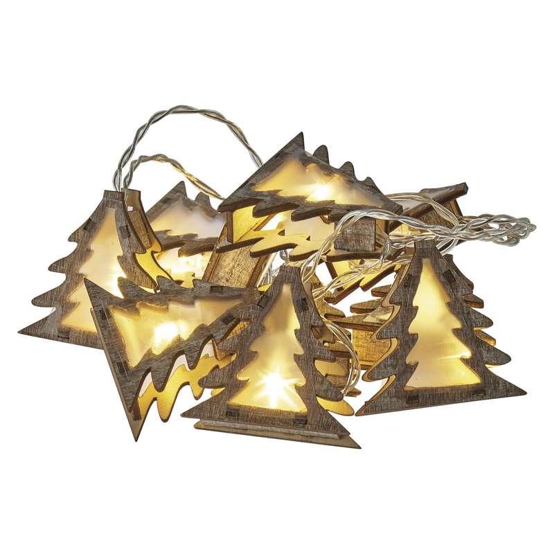 ZY2066 LED vánoční stromky 3D, 2xAA, teplá bílá s časovačem 1,35m 3V DC